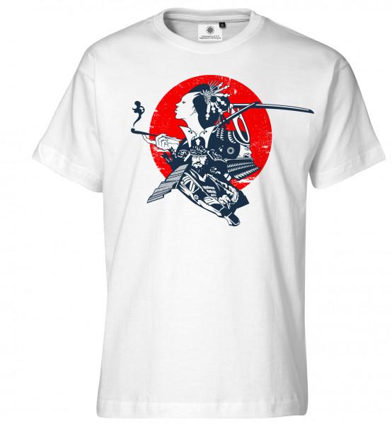 Bedrucktes Herren Japan T-Shirt Samurai
