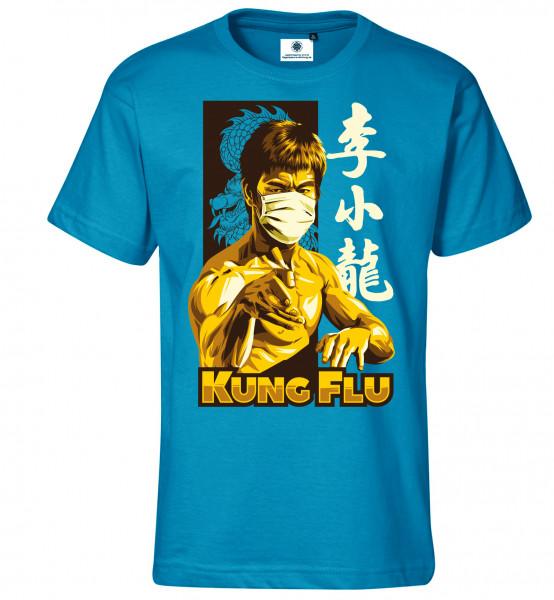 Bedrucktes Herren Corona T-Shirt Kung Flu