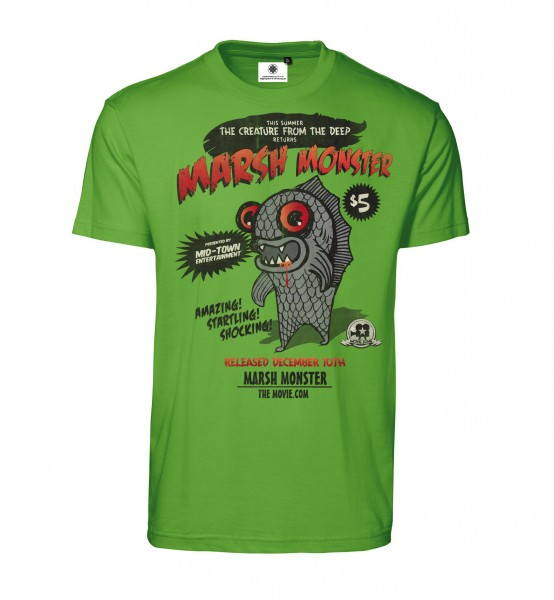 Bedrucktes Herren Horror T-Shirt Marsh Monster