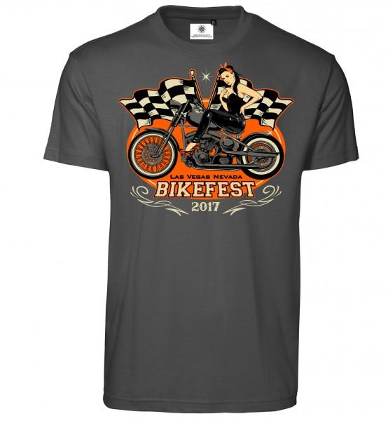 Bedrucktes Herren Biker T-Shirt Bikefest 2017
