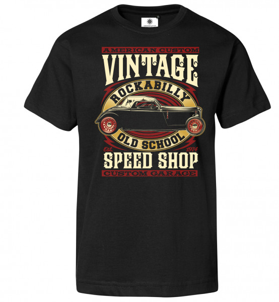 Bedrucktes Herren Hot Rod T-Shirt Rockabilly Old School
