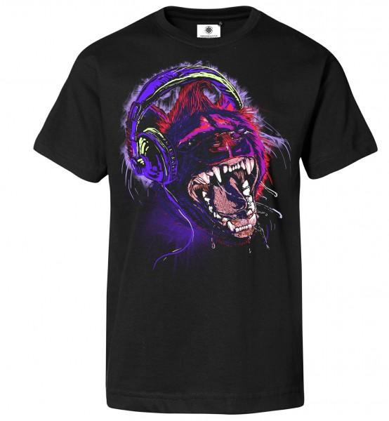 Bedrucktes Herren Techno T-Shirt Wild Tracks