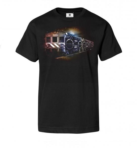 Bedrucktes Herren Streetwear T-Shirt Ghettoblaster Train