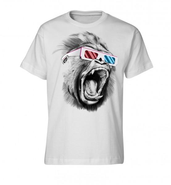 Bedrucktes Herren T-Shirt Shouting Gorilla