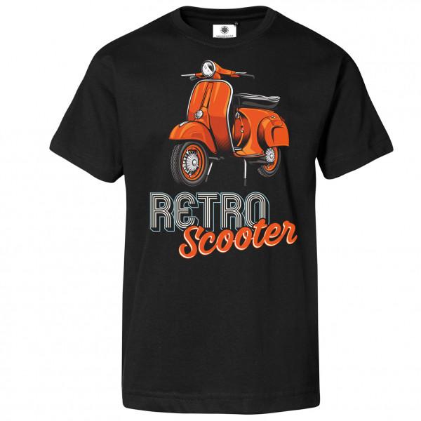 Bedrucktes Herren Old School T-Shirt Retro Scooter