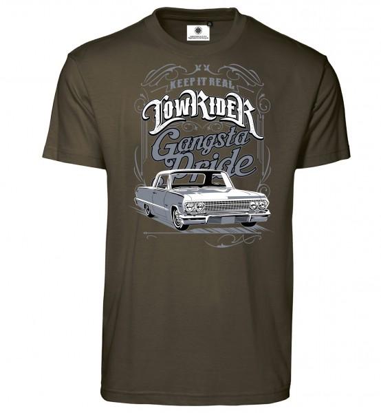 Bedrucktes Herren Oldtimer Low Rider T-Shirt Gangsta Pride