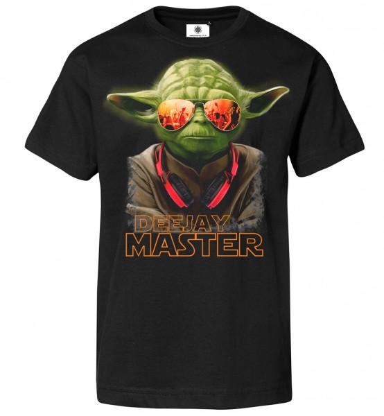 Bedrucktes Herren Star Wars Musik T-Shirt DJ Yoda