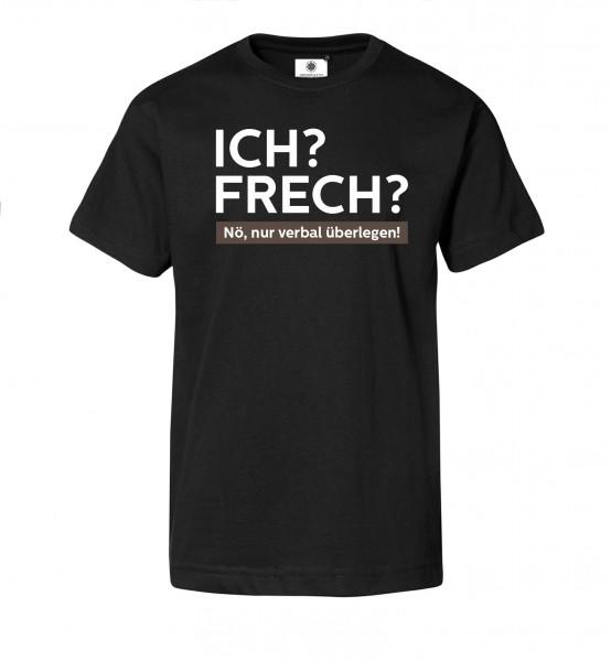Bedrucktes Herren T-Shirt mit Spruch ICH? FRECH?