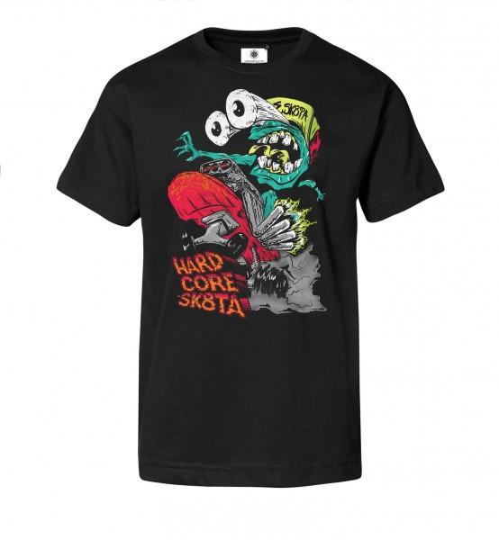 Bedrucktes Herren Streetwear T-Shirt mit Motiv Hardcore Skater