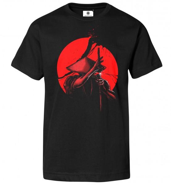 Bedrucktes Herren Schwertkampf T-Shirt Samurai