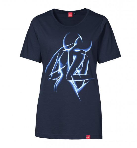"Damen T-Shirt ""Emotional Dawn"" (blue/navy)"