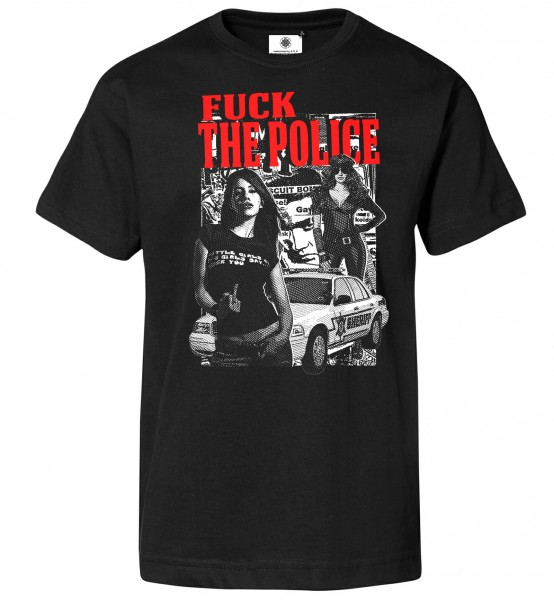 Bedrucktes Herren Revolution T-Shirt F**k the Police