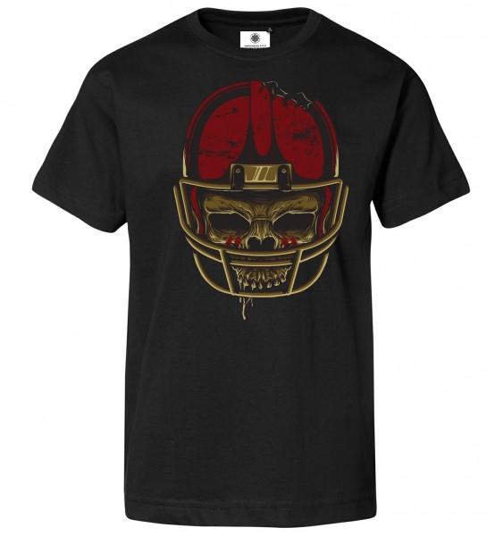 Bedrucktes Herren T-Shirt American Football Skull