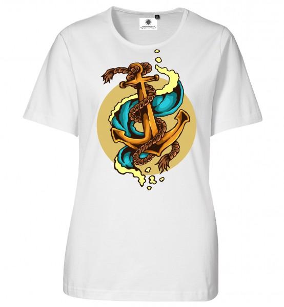 Bedrucktes Damen Tatoo T-Shirt Vintage Anker