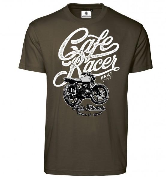 Bedrucktes Herren Retro Motorrad Biker T-Shirt Cafe Racer