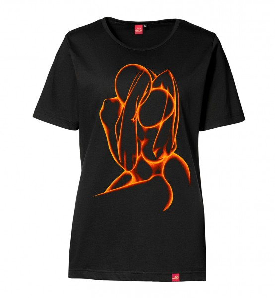 "Damen T-Shirt ""Silhouette of Passion"" (red/black)"
