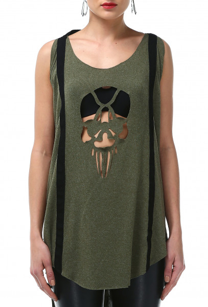 Ladies Rockupy Sleeveless Long-Shirt