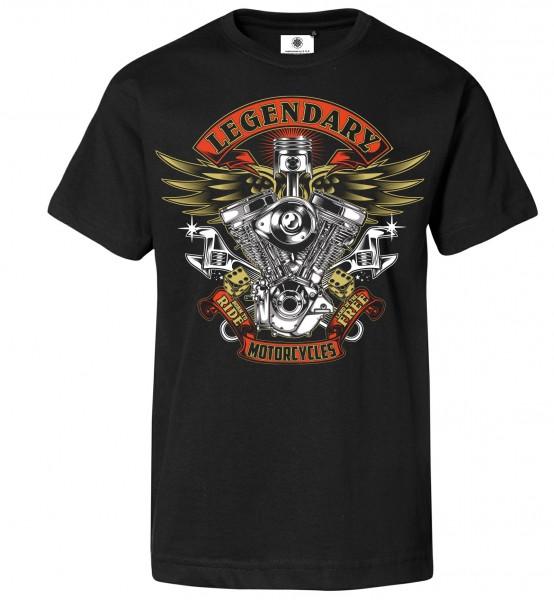 Bedrucktes Herren Biker T-Shirt Legendary Motorcycles