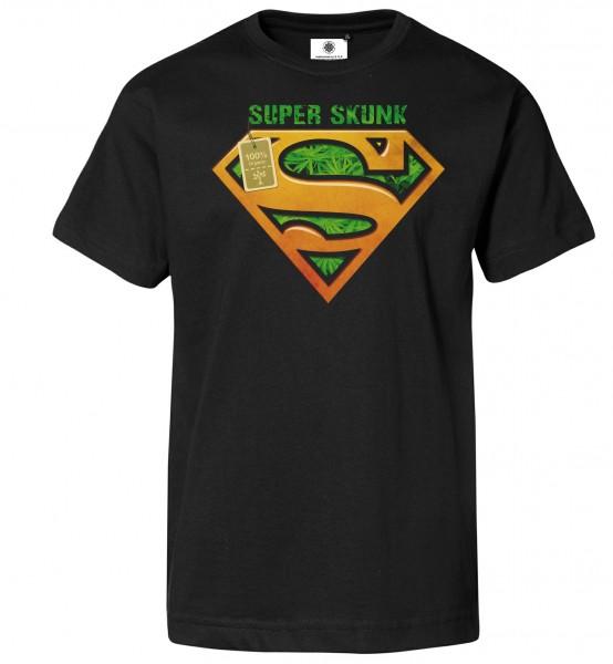 Bedrucktes Herren Weed T-Shirt Super Skunk
