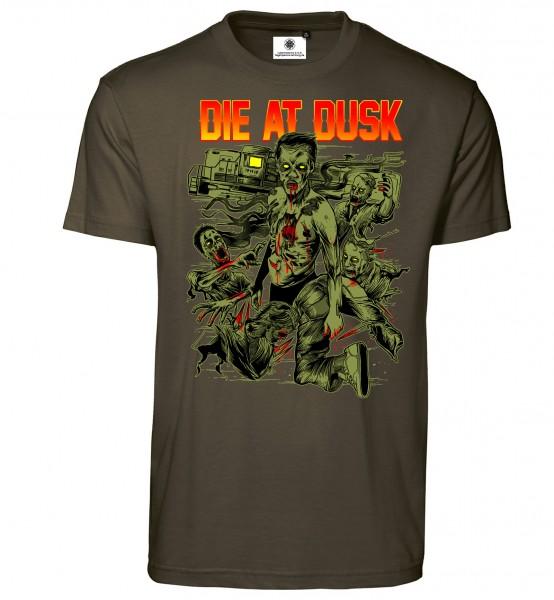 Bedrucktes Herren Zombie T-Shirt Die at Dusk