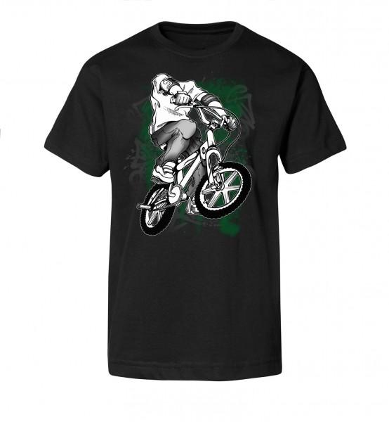 Bedrucktes Herren Streetwear T-Shirt Headless BMX