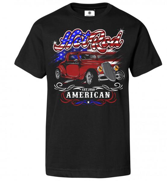 Bedrucktes Herren Oldtimer T-Shirt Hot Rod USA