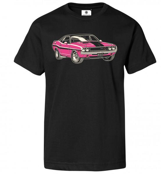 Bedrucktes Herren Muscle Car T-Shirt Dodge Challenger