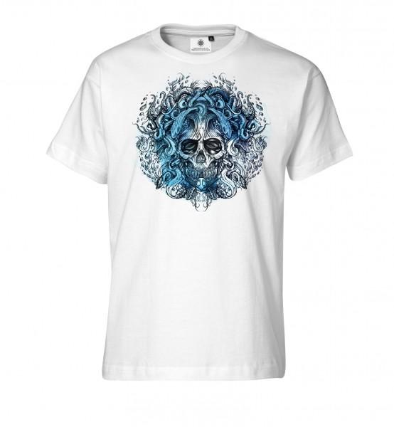 Bedrucktes Herren T-Shirt Tentacle Skull