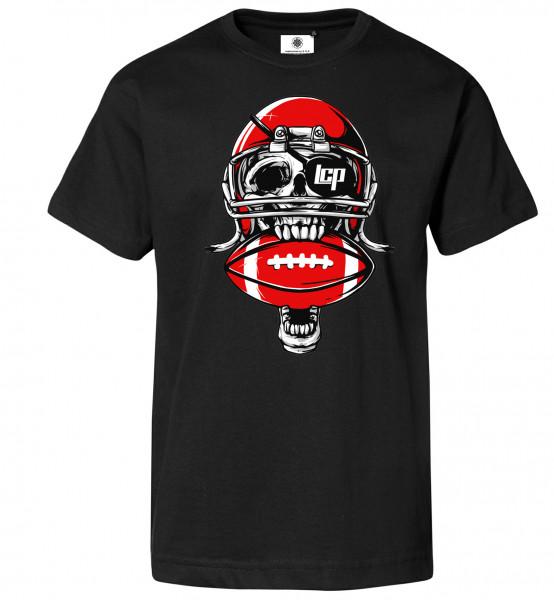 Bedrucktes Herren Fan T-Shirt American Skull Football
