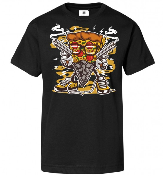 Bedrucktes Herren Fun T-Shirt Pizza Gangster