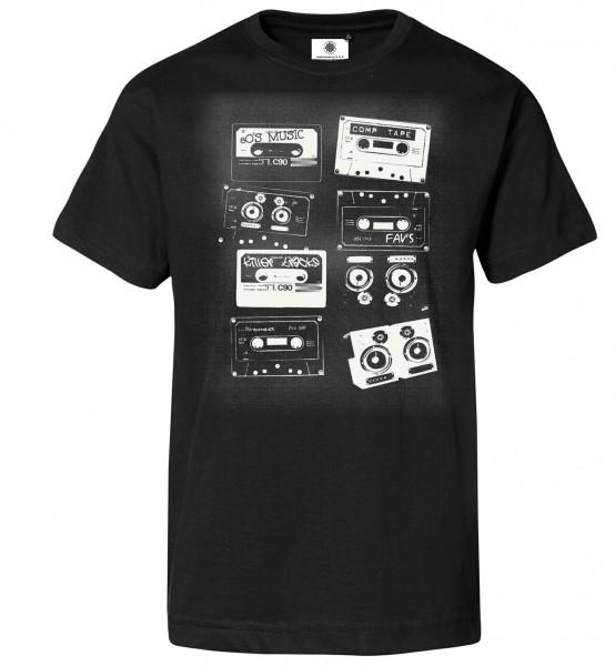 Bedrucktes Herren Musik T-Shirt 80er Tapes