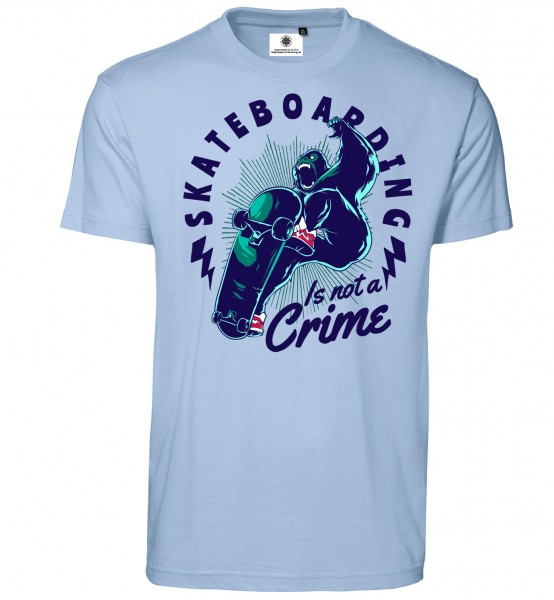 Bedrucktes Herren T-Shirt Skateboarding is not a Crime