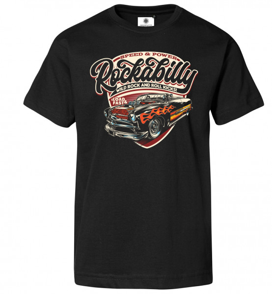 Bedrucktes Herren Rock´n´Roll T-Shirt Rockabilly Kicks