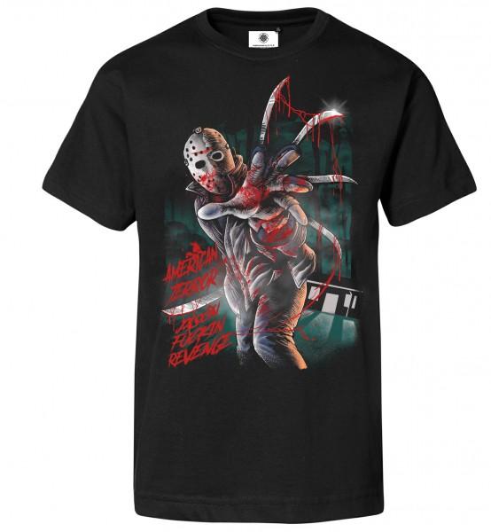 Bedrucktes Herren Freitag der 13. T-Shirt Jason American Terror