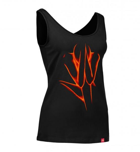 "Damen Stretch Top ""Silent Decision"" (red/black)"