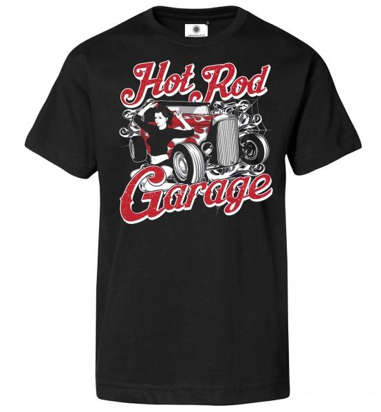 Bedrucktes Herren Oldschool T-Shirt Hot Rod Garage
