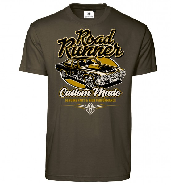 Bedrucktes Herren Tuning Custom Made T-Shirt Road Runner