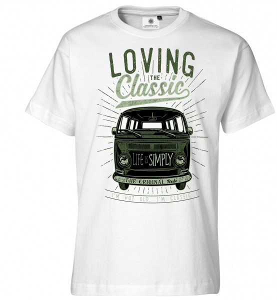 Bedrucktes Herren Bus T-Shirt Loving the Classic
