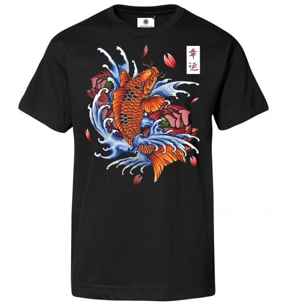 Bedrucktes Herren T-Shirt Japanese Koi Tattoo