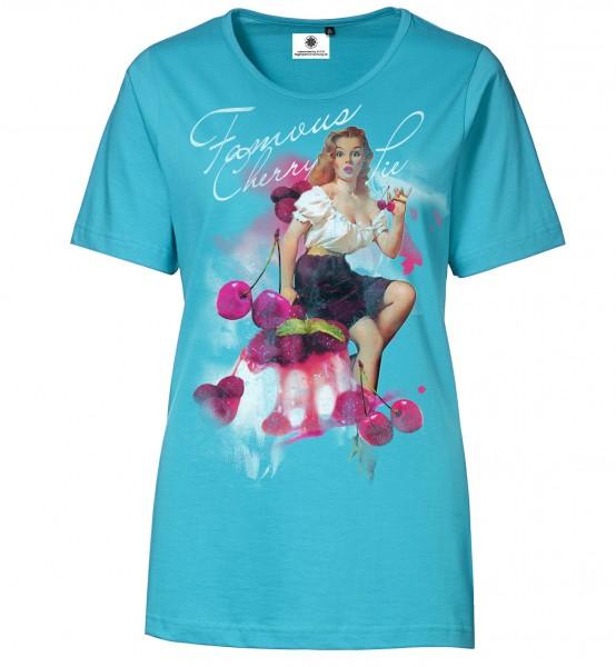 Bedrucktes Damen T-Shirt Rock´n´Roll Cherry