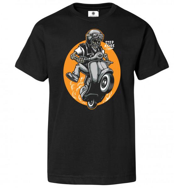 Bedrucktes Herren Vespa Lambretta T-Shirt Scooter Skull