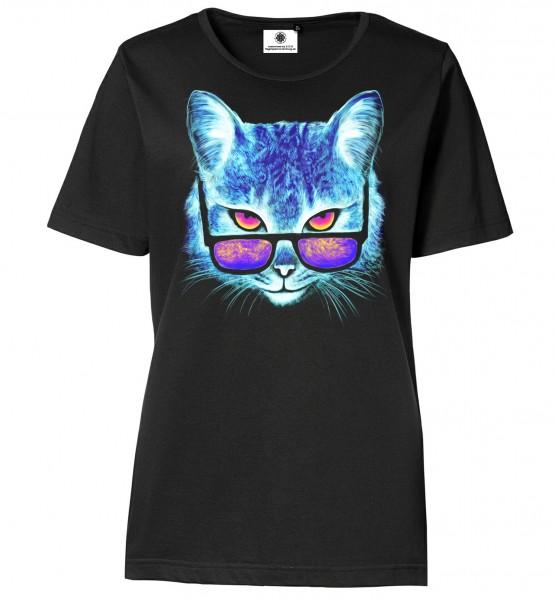 Bedrucktes Damen Katzen T-Shirt Catismatic