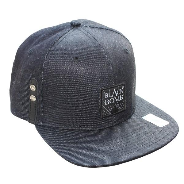 Black Bomb {Explo} Snapback Cap Denim