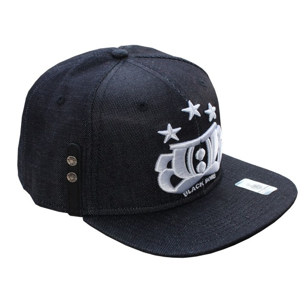 Black Bomb BB3 Snapback Cap Denim