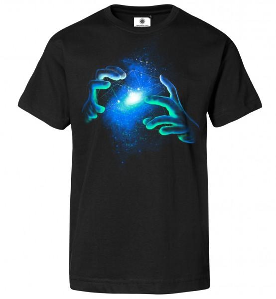 Bedrucktes Herren Magier T-Shirt Space Illusionist