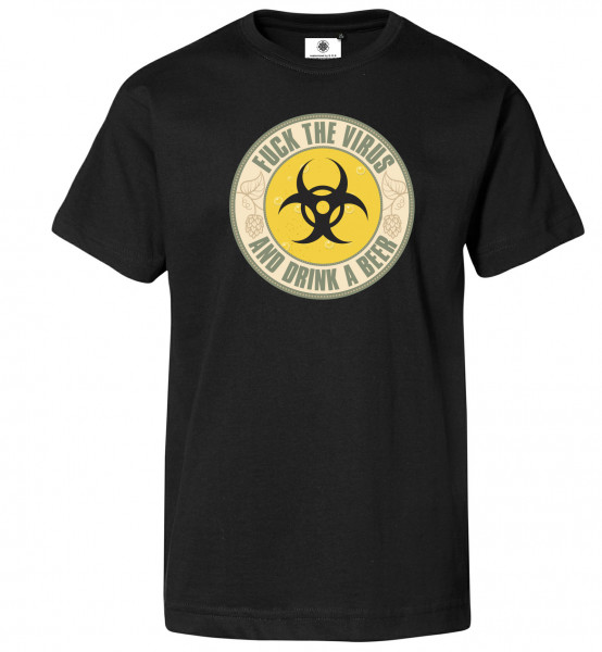 Bedrucktes Herren Corona T-Shirt Fuck the Virus