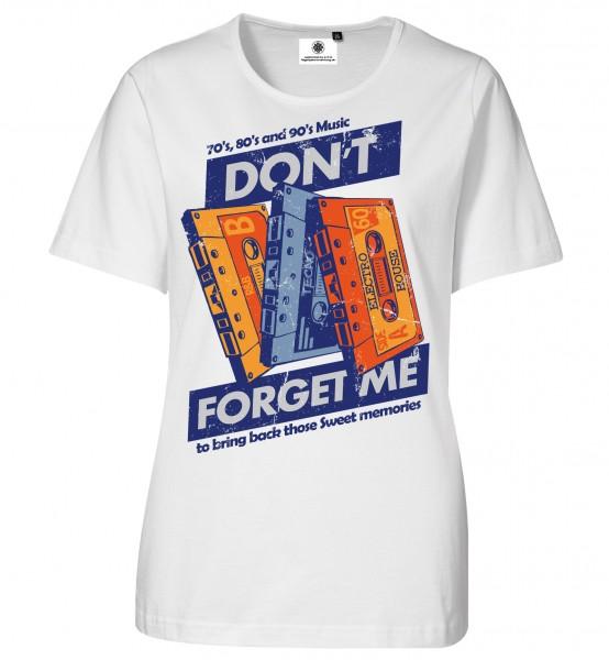 Bedrucktes Damen Musik Kassetten Tape T-Shirt Sweet Memories