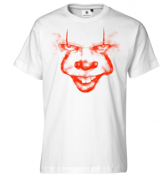 Bedrucktes Herren Horror T-Shirt Clown Says Hello