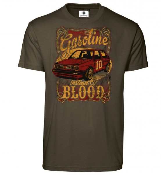 Bedrucktes Herren Golf T-Shirt Gasoline instead of Blood