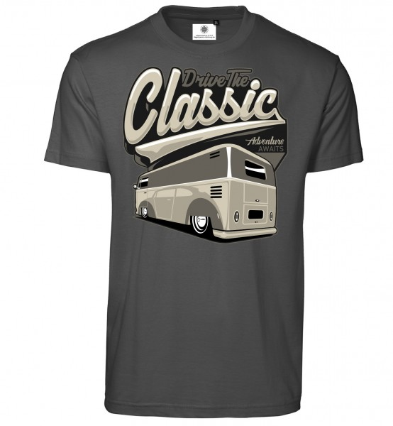 Bedrucktes Herren Bus T-Shirt Drive the Classic